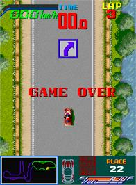 Game Over Screen for Chequered Flag.