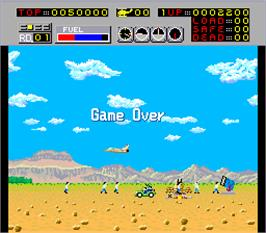 Game Over Screen for Choplifter.