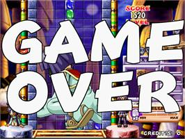 Game Over Screen for Cleopatra Fortune Plus.