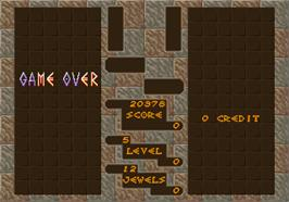 Game Over Screen for Columns.