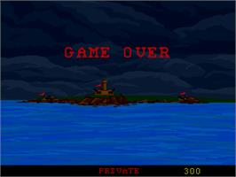 Game Over Screen for Combat.