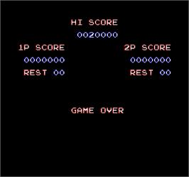 Game Over Screen for Contra 3: The Alien Wars.