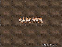 Game Over Screen for Cool Boarders Arcade Jam.