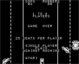 Game Over Screen for Cops'n Robbers.