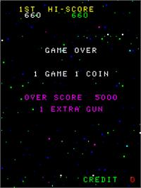 Game Over Screen for Cosmic Alien.
