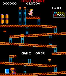 Game Over Screen for Crazy Kong Part II.