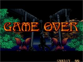 Game Over Screen for Crossed Swords.