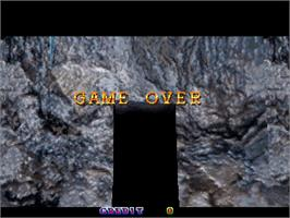 Game Over Screen for Crypt Killer.