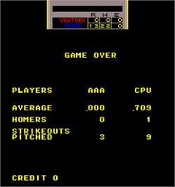 Game Over Screen for Curve Ball.