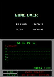 Game Over Screen for Cyber Police ESWAT: Enhanced Special Weapons and Tactics.