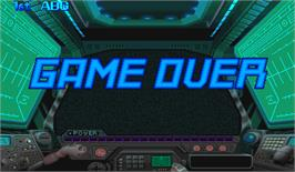 Game Over Screen for Cyberbots: Fullmetal Madness.