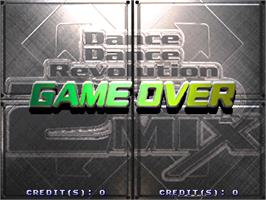 Game Over Screen for Dance Dance Revolution Best of Cool Dancers.