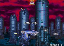 Game Over Screen for Darius Gaiden - Silver Hawk.