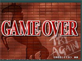 Game Over Screen for Dark Horse Legend.