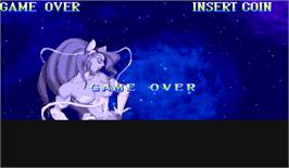 Game Over Screen for Darkstalkers: The Night Warriors.