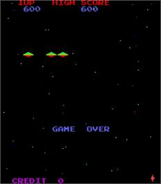 Game Over Screen for Defend the Terra Attack on the Red UFO.