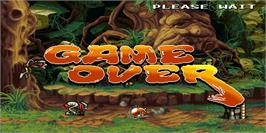 Game Over Screen for Demon Front.