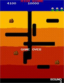 Game Over Screen for Dig Dug.