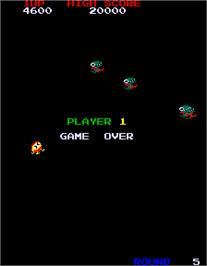 Game Over Screen for Dig Dug II.