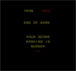 Game Over Screen for Discs of Tron.