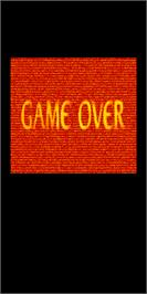 Game Over Screen for DoDonPachi Dai-Ou-Jou.