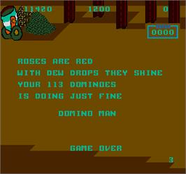 Game Over Screen for Domino Man.