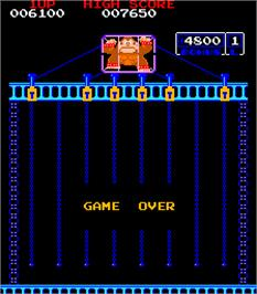 Game Over Screen for Donkey Kong Jr..