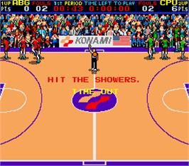 Game Over Screen for Double Dribble.