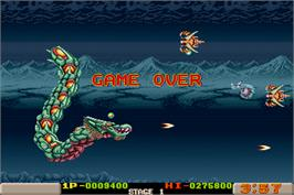 Game Over Screen for Dragon Breed.