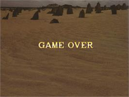 Game Over Screen for Dragon Gun.