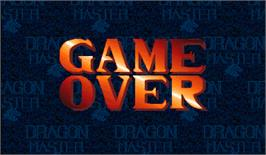 Game Over Screen for Dragon Master.