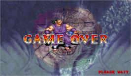 Game Over Screen for Dragoon Might.
