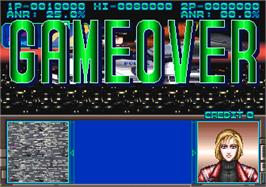 Game Over Screen for Dramatic Adventure Quiz Keith & Lucy.