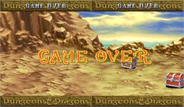 Game Over Screen for Dungeons & Dragons: Shadow over Mystara.