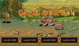 Game Over Screen for Dungeons & Dragons: Tower of Doom.