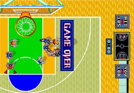 Game Over Screen for Dunk Shot.