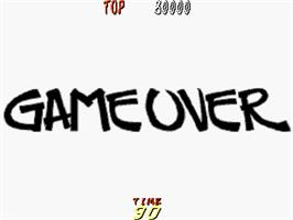 Game Over Screen for Dyna Gear.
