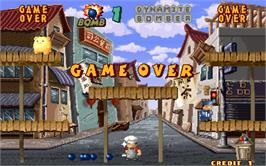 Game Over Screen for Dynamite Bomber.