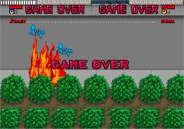 Game Over Screen for Dynamite Dux.