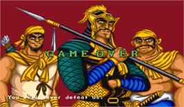 Game Over Screen for Dynasty Wars.