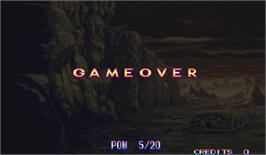 Game Over Screen for Eco Fighters.