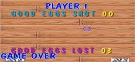 Game Over Screen for Egg Venture.