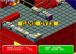 Game Over Screen for Escape from the Planet of the Robot Monsters.