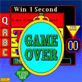 Game Over Screen for Every Second Counts.