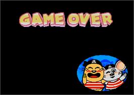 Game Over Screen for Exciting Animal Land Jr..
