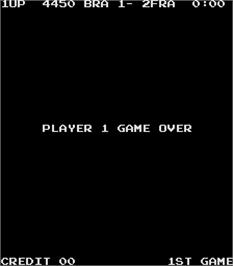 Game Over Screen for Exciting Soccer.