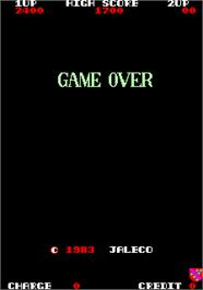 Game Over Screen for Exerion.