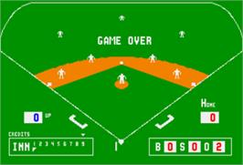 Game Over Screen for Extra Bases.