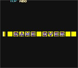 Game Over Screen for F-1 Dream.