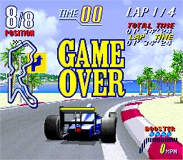 Game Over Screen for F-1 Grand Prix Star II.